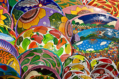 Mexican art plates