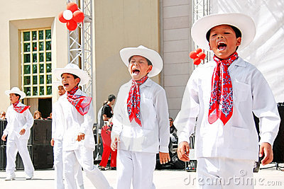 Mexican boys Editorial Stock Image