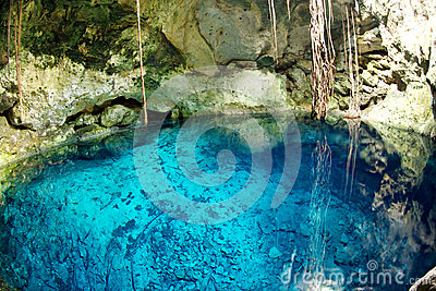 Mexican cenote, sinkhole
