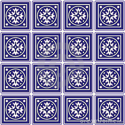 Free Mexican Ceramic Tiles Background Stock Photography - 5258622