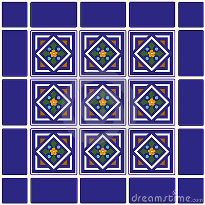 Free Mexican Ceramic Tiles Background Royalty Free Stock Photography - 5258637
