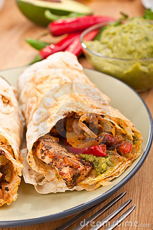 Mexican chicken and beef fajitas