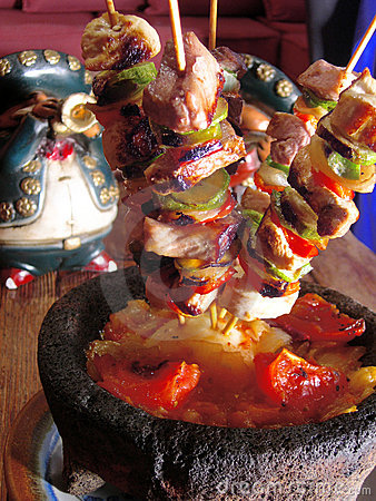 Free Mexican Chicken Brochettes Stock Image - 6412191