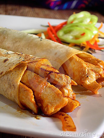 Free Mexican Chicken Burritos Royalty Free Stock Image - 4566246