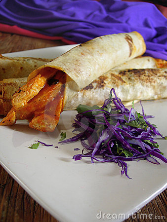 Mexican Chicken Burritos Stock Image - Image: 6409151