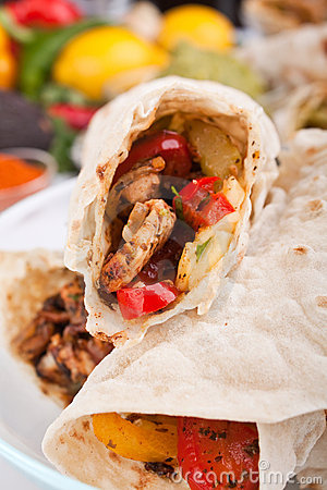 Mexican chicken fajitas
