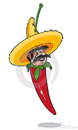 Free Mexican Chilli Pepper Man Royalty Free Stock Images - 2583009