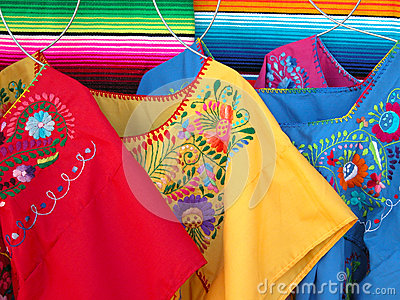 Mexican colorful dresses