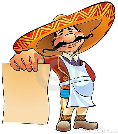 Free Mexican Cook With Menu. Royalty Free Stock Images - 18250959