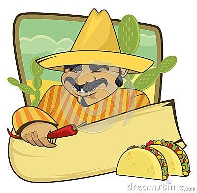 Mexican cuisine banner