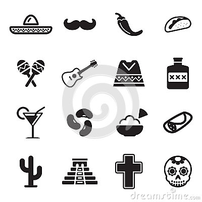 Free Mexican Culture Icons Stock Photography - 48023782