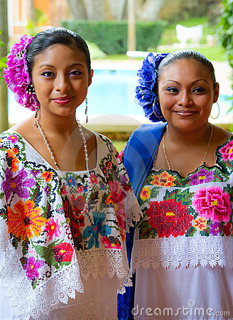 Free Mexican Dancers Portrait Royalty Free Stock Image - 21750936
