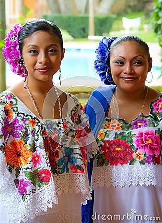 Mexican dancers portrait Editorial Photo