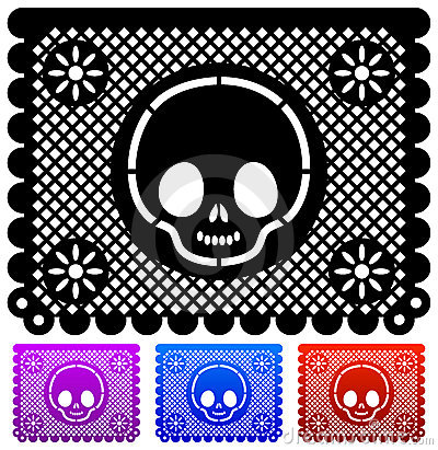 Mexican Day of the death decoration - vector