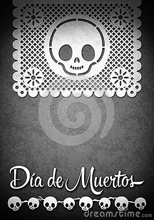 Mexican Day of the Death poster template