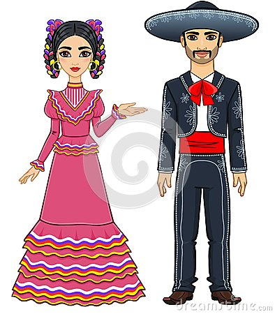 Free Mexican Family In Traditional Festive Clothes. Royalty Free Stock Image - 49737436