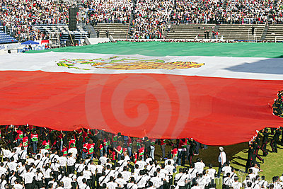 Mexican flag Editorial Image