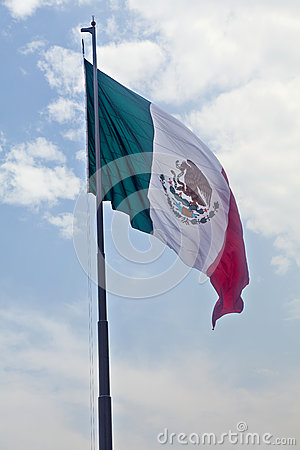 Free Mexican Flag Royalty Free Stock Image - 51333326