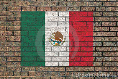 Mexican flag on wall