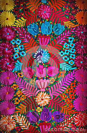 Free Mexican Floral Embroidery Stock Photos - 29344233