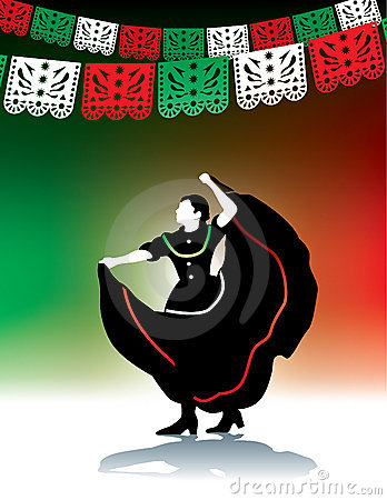 Mexican folk dancer