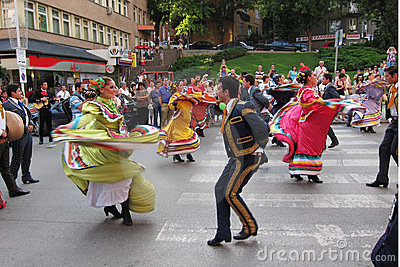 Mexican folk dancers Editorial Image