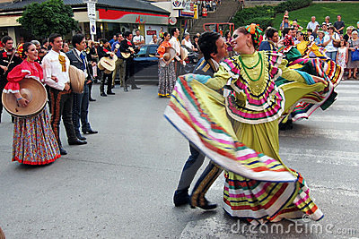 Mexican folk dancers Editorial Stock Photo