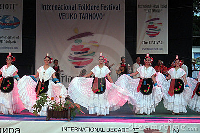 Mexican folk dancers Editorial Stock Image