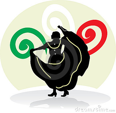 Mexican Folkloric dance woman