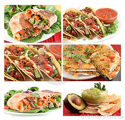 Free Mexican Food Collage Stock Photography - 8323542