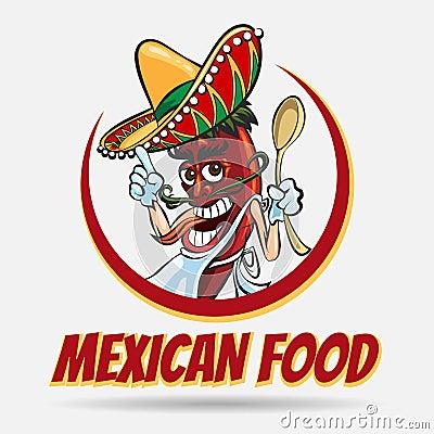 Free Mexican Food Emblem Stock Photo - 96947370