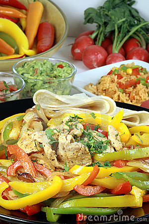 Mexican food feast