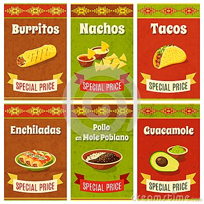 Mexican Food Poster Vector Illustration
