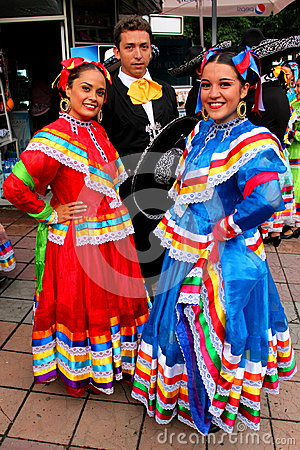 Mexican dancers Editorial Stock Image