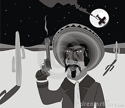 Mexican Gunman Stock Photos - Image: 9258353