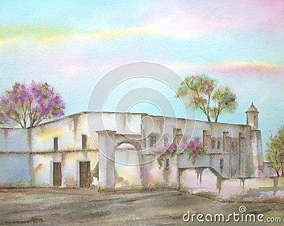 Mexican Hacienda on Michoacan