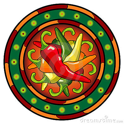 Free Mexican Hot Chili Logo Stock Image - 15266071
