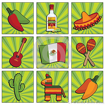 Free Mexican Icons Stock Photos - 26315233