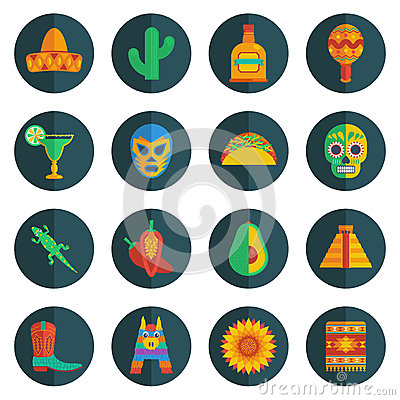Free Mexican Icons Stock Images - 42062914