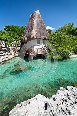 Mexican jungle hut