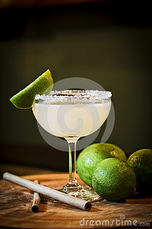 Free Mexican Lemon Lime Margarita Cocktail Drink In Bar Stock Photos - 90694193