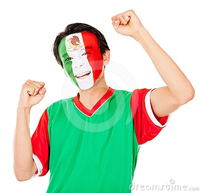 Mexican man celebrating