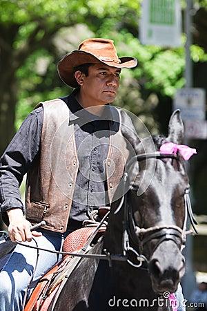 Mexican Man riding a Horse Editorial Photography