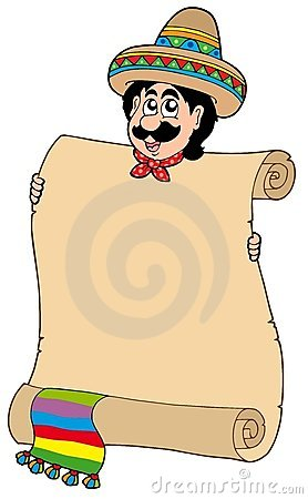 Mexican man with scroll