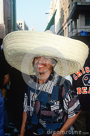 A Mexican man wearing a sombrero, Editorial Photography