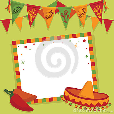Free Mexican Party Card Stock Images - 25346084