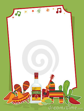 Free Mexican Party Sign Royalty Free Stock Image - 18876836