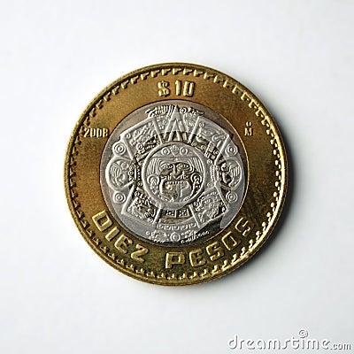 10 Pesos coin.