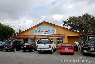 Mexican Restaurant in Texas Editorial Stock Photo