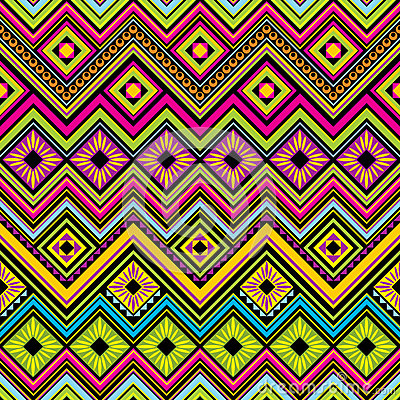 Free Mexican Seamless Zigzag Background Royalty Free Stock Images - 40889889